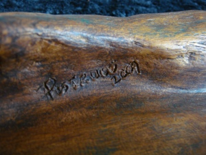 Pistrucci signature on back of iris