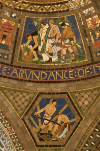 Rafael Guastavino, Jr. and Hildreth Meière collaborated on the tile murals in the Nebraska State Capitol by architect Bertram Goodhue (1931).