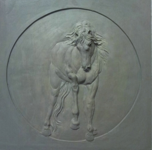 Foreshortened Horse Relief