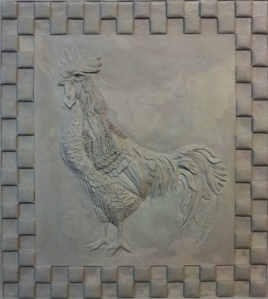 "13""x13"" Rooster"