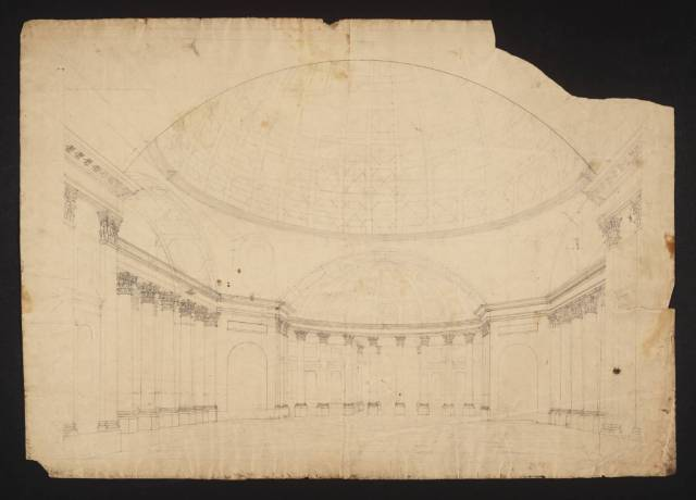 An Interior, with Dome circa 1810-27 by Joseph Mallord William Turner 1775-1851