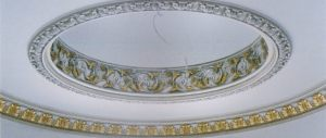 Small Dome with Frize Anyone would love to have a ceiling inspired with architectural details in their living room!